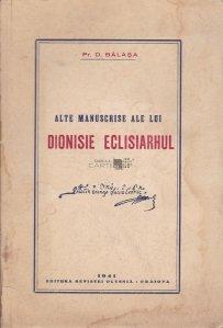 Alte manuscrise ale lui Dionisie Eclisiarhul