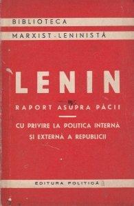 Lenin, raport asupra pacii