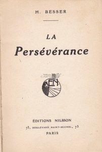 La Perseverance / Perseverenta