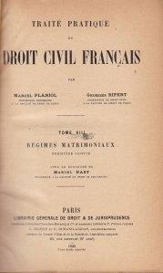 Traite pratique de droit civil francais / Conventia practica a dreptului civil francez