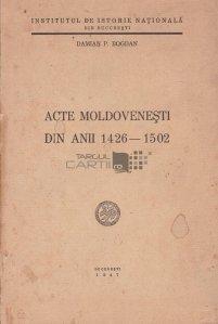 Acte Moldovenesti din anii 1426-1502