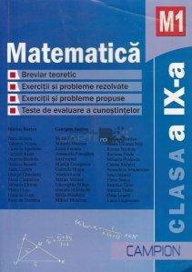 Matematica-M1. Clasa a IX-a